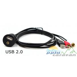 TOMA USB+AUX CON RCA