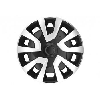 Tapacubos Tapacubos para llantas de acero Set Tenzo de R XII 15/pulgadas Negro Rojo